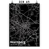 Mr. & Mrs. Panda Poster DIN A3 Stadt Nürnberg Stadt Black