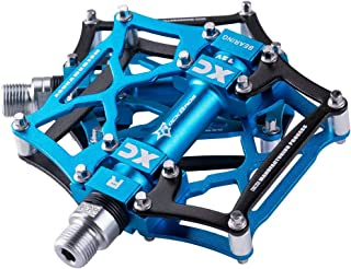 ROCK BROS Mountain Bike Pedals Flat Pedals Mountain Bike Pedals Platform Cycling Sealed Bearing Aluminum 9/16 Bicycle Pedals for MTB Mountain Bike