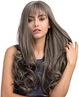 Best long grey wigs with bangs Reviews