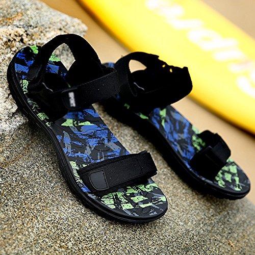 Basses MAZHONG Sandales d'été Chaussures de Plage pour Hommes Casual Sports Outdoor Outdoor Sandals (Couleur : A, Taille : EU43/UK9/CN44)