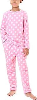 Hawiton Pijama para niñas Invierno,Pijama a diseño Estrella de Franela,Calentar Camiseta de Manga Larga y pantalón Largo c...