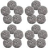 BESTZY - 20 piezas de estropajos de acero inoxidable en espiral, limpios para cocina, herramientas de limpieza