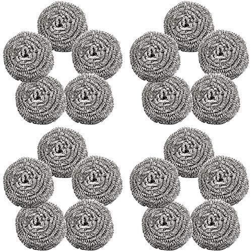 Topfreiniger,BESTZY 20 Stück Topfreiniger Edelstahl Scheuerspirale Sauber für Küche Reinigung Werkzeuge