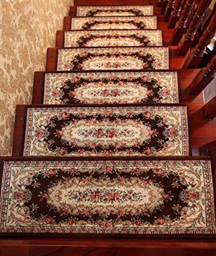 Scale Tappetino Pad, 5 Pezzi,Scala Pad Passaggio Stuoia Del Rilievo Di Legno Solido Scala Pad Auto - Adesivo Anti - Scivolo Scale Tappetini ( Colore : G. , dimensioni : 75*26cm )