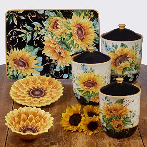 Certified International Sunflower Fields 3 Piece Canister Set Multi Colored