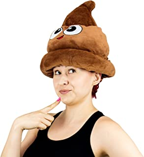 Fiesta Toys Emoji Poop Plush Emoticon Hat - 12 Inches