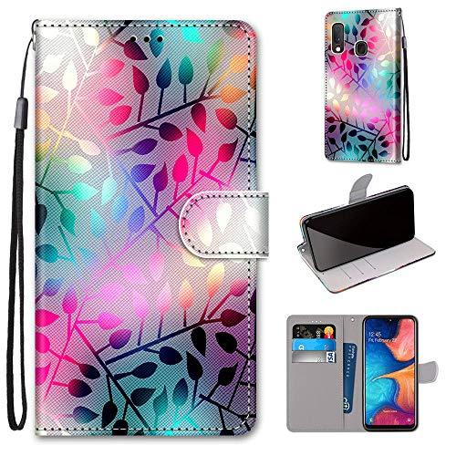 DICASI Handyhülle für Samsung Galaxy A20e Premium PU Leder Hülle (5,8