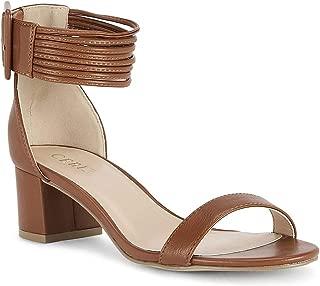 Ceriz Women's Tan Block Heels Sandals