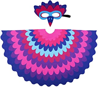 D.Q.Z Kids Bird Wings for Girl Boy Parrot Costume and Dress-Up Mask