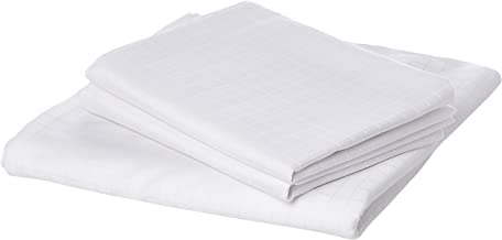 Hotel Linen Box Satee Queen Size 240 x 260 cm Bedding Set of 3 Pieces, White