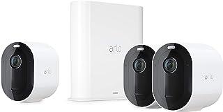 Arlo Pro3 2K - Sistema de seguridad y luz Smart (3 unidades recargable audio libre de cables con visión diurna/nocturna interior/exterior funciona con Amazon Alexa) VMS4340P