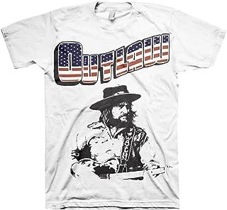 Waylon Jennings Men's New Outlaw Slim-Fit T-Shirt White
