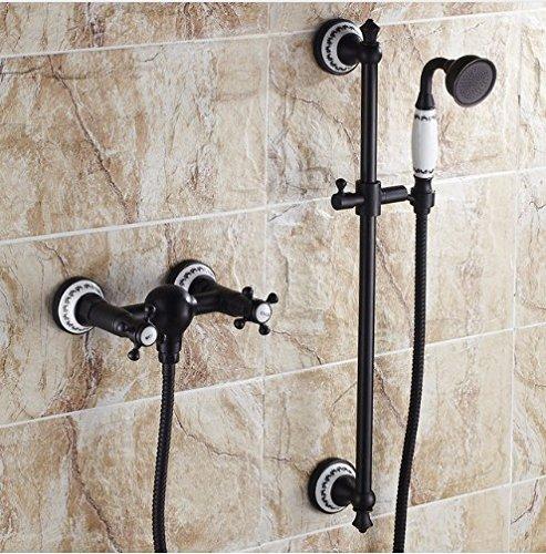 GOWE keramische stijl olie gewreven brons bad schuiven hand douche mixer set muur gemonteerd