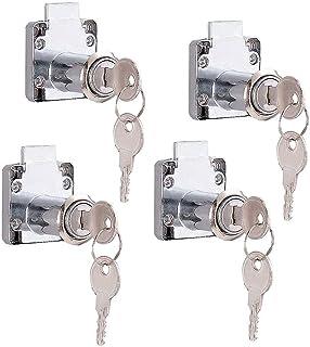 4 stuks kast lade slot, meubels slot cilinder, Cam Lock Security Cabinet Lock, voor deurkast brievenbus kast huishouden ka...