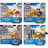 Paw Patrol Toys | Mighty Pups | 4-Pack | Ultimate Rescue Construction Action Figures Marshall Chase Skye Rubble | for Kids Girls and Boys Age 3, Age 4, Age 5, and Up