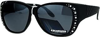 SA106 Polarized 55mm Fit Over OTG Butterfly Rhinestone Diva Sunglasses