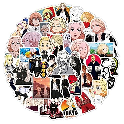 SHUYE Nuevas Pegatinas de Anime de los Vengadores de Tokio, calcomanía Impermeablepara Coche, Maleta, monopatín, Motocicleta para Adolescentes, niños, 50 Uds.