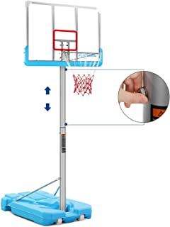 MaxKare Basketball Hoop Goal Portable Kids Poolside Basketball System Set Game Stand 47''-79'' Adjustable Height Perfect for Outdoor Swimming Pool Indoor Adult with Aluminum Alloy Anti-Rust