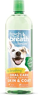 TropiClean Fresh Breath Oral Care Water Additive Plus Skin & Coat, 33.8oz (2 Pack)