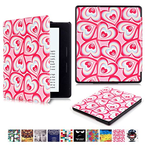 Kindle Paperwhite funda – Ultra Slim Carcasa Funda de piel sintética Smart Cover Fit Para Amazon Kindle Paperwhite # 1 Love heart Amazon Oasis(2016)