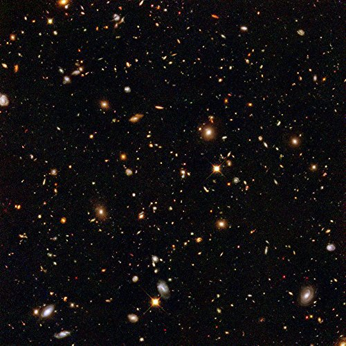 Spiffing Prints Hubble Telescope - Ultra Deep Field NICMOS - Extra Large - Archival Matte - Black Frame