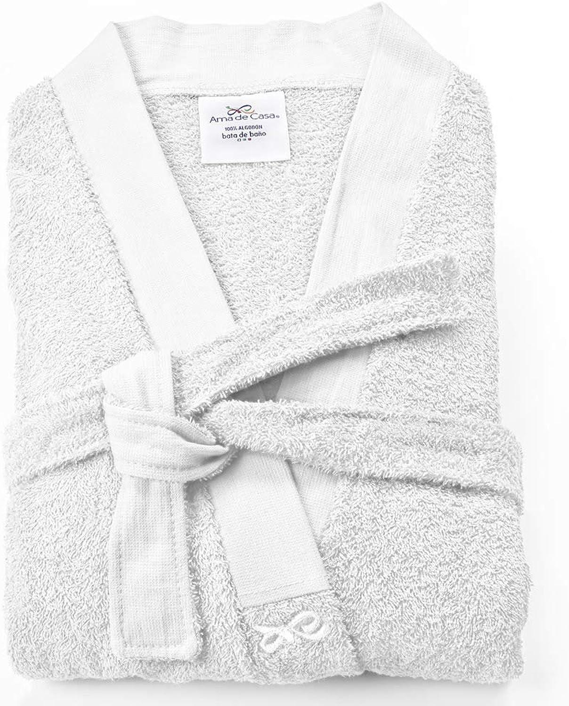 Ama de Casa, Unisex Medium Bathrobe, 100% Soft Cotton