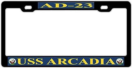 GqutiyulUCOOL Fashionable License Plate Frame for Women/Men - Car Licenses Plate Covers Holder License Tag Aluminum Metal Frame