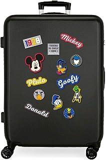 Disney Have a good day Mickey Valise Moyenne Noir 48x68x26 cms Rigide ABS Serrure à combinaison 70L 3,7Kgs 4 roues doubles