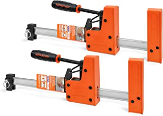 """Jorgensen Parallel Jaw Bar Clamp Set, 12"""" Woodworking Clamps, Cabinet Master, 2-Pack"""
