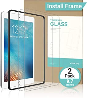 "【2 PACK Gift INSTALL FRAME】 iPad 9.7"" 6th Generation Screen Protector, Tempered.."