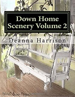 Down Home Scenery Volume 2: Grayscale Adult Coloring Book