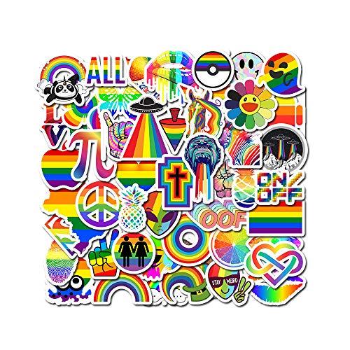 ZNMSB Etiquetas engomadas Atractivas de la Pintada del Arco Iris para Las Etiquetas engomadas Impermeables del Arco Iris LGBT Gay