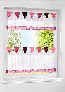 LivebyCare 1pcs Window Curtain Tier and Valance Tab Top Semi Sheer Window Treatment Voile Drape Drapery Panels for Study Room Decor Decorative