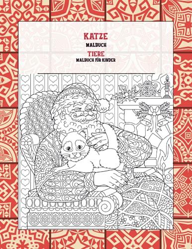 Malbuch - Malbuch für Kinder - Tiere - Katze