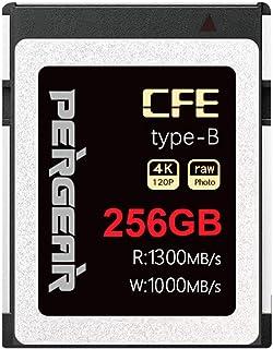 Pergear CFexpress type-B 高速メモリーカード 256G 読み取り速度最大1300MB/s 写真の安定したストリーミング速度 4K120P ビデオ NikonZ6 Z7対応(256GB)