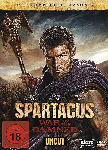 Spartacus: War of the Damned - Die komplette Season 3 (4 Discs, Uncut) [Alemania] [DVD]