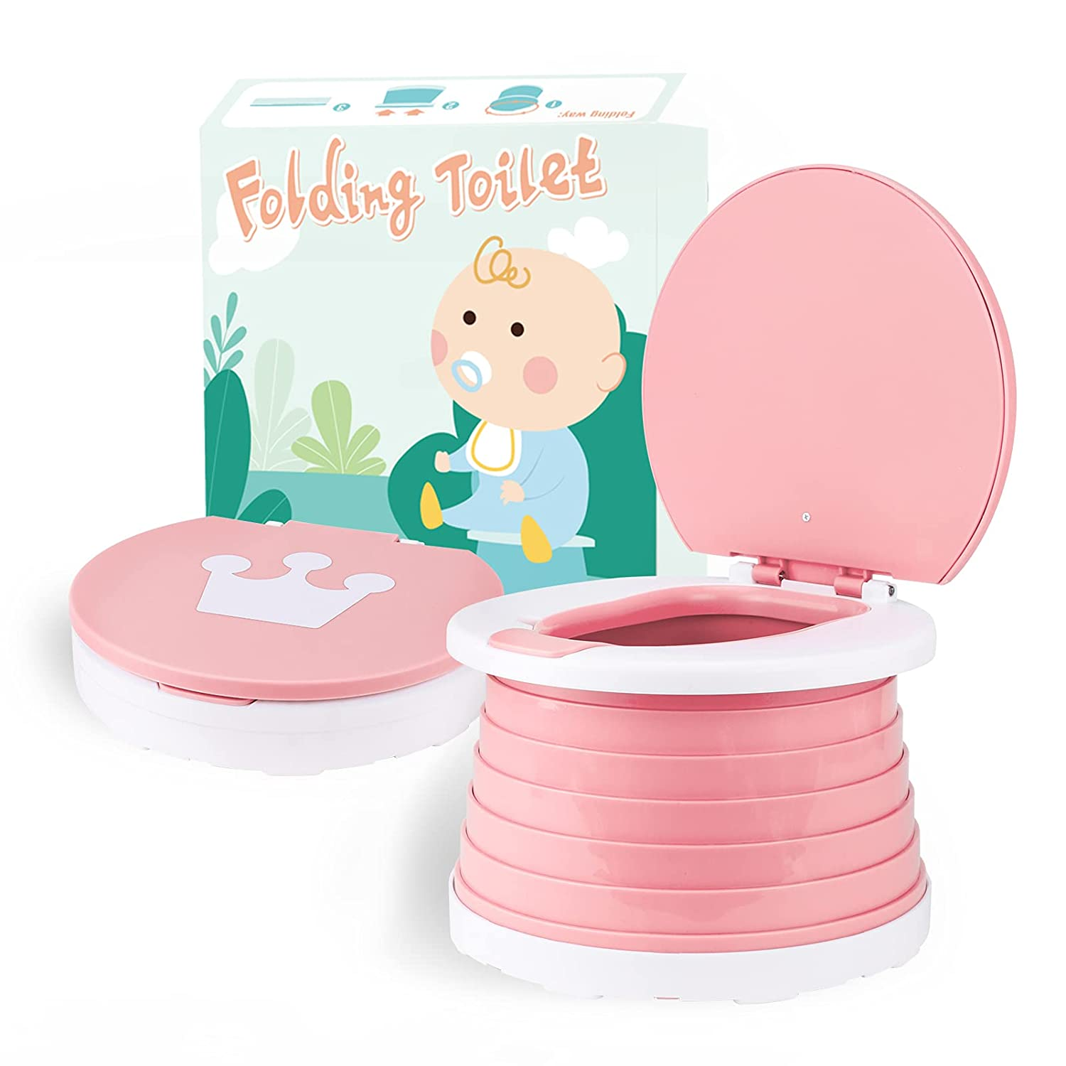 Portable Potty for Toddler Travel In a popularity Trave Toilet Foldable Training Free shipping anywhere in the nation