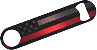 Firefighter Thin Red Line Flag Subdued Speed Bottle Opener Heavy Duty Gift For Fire Fighter Department FD