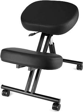 Chaise Ergonomique pour agenouiller - Variable Chaise -Bureau Chaises orthopédique Posture - Siège réglable, sans Dossier, St