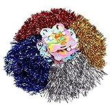 Schramm® 12er Pack (6x2) Pom Poms Pom Pom Tanzwedel Cheerleader Puschel Tanzpuschel