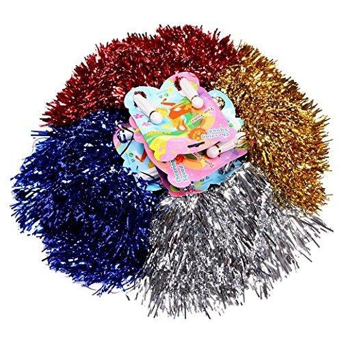 Schramm® 4 Stück (2x2) Pom Poms Pom Pom Tanzwedel Cheerleader Puschel Tanzpuschel