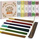 LASENTEUR Incense Sticks Premium Perfume Incense Variety Pack Gift Set Various Fragrances 120 Incense Sticks with Free Incense Holder for for Meditation, Yoga, Aromatherapy, Relaxation