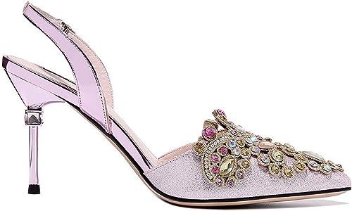 LBTSQ Chaussures Femme Le Printemps Printemps Petite Bouche Talon 9 Cm l'eau De Forage De Bien Le Talon Seule Chaussure  il y a plus de marques de produits de haute qualité