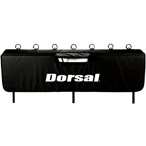 DORSAL Tailgate Pad for Mountain Bikes with Handle Pocket for Tailgate Cover with Secure Bike Frame Straps