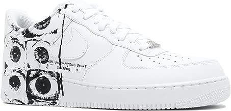 Nike Mens Air Force 1 '07/Supreme/CDG White/White-White Leather