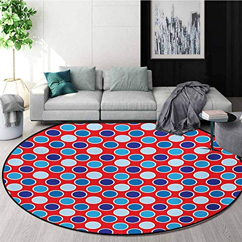 Fantastic Deal! RUGSMAT Polka Dots Super Soft Circle Rugs for Girls,Bohemian Style Illustration of P...