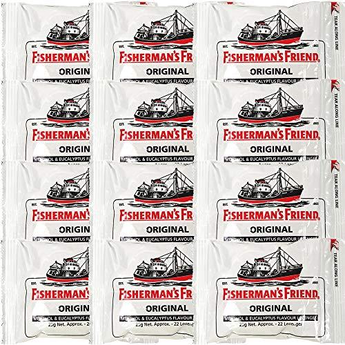 フィッシャーマンズ フレンド エクストラ ストロング ミント (白) 12袋セット
