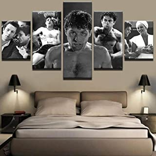 5 Piece Wall Art Background Paintings Hd Pictures Poster Prints On Canvas Raging Bull Robes It Home Modern Decoration Wood...