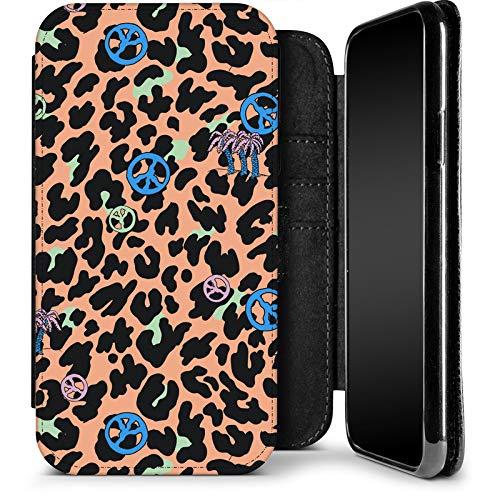 Funda con Tapa para Smartphone Apple iPhone X/XS, diseño de Piel de Leopardo
