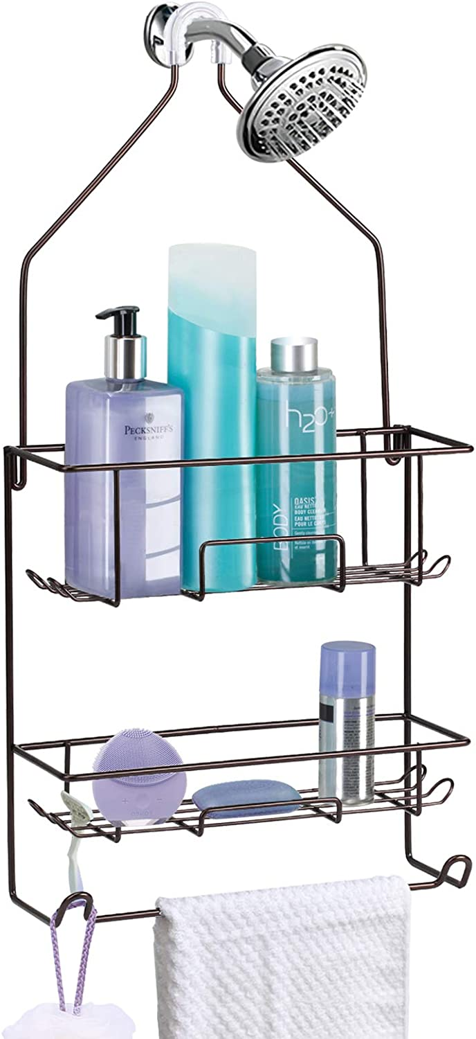 Baltimore Mall Shower Caddy depot Hanging over Rust Organizer Roof Head